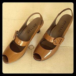 Anyi lu patent leather heels 38